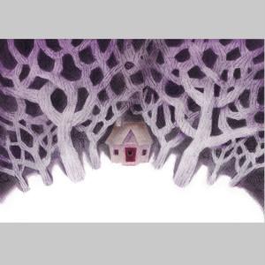 【水野朋子】 原画「森の家」