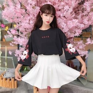 【トップス】和風五分丈可愛い系キュートTシャツ28865170