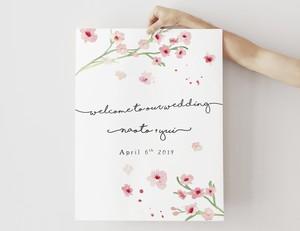 春の結婚式に♪ 桜咲くウェルカムボード