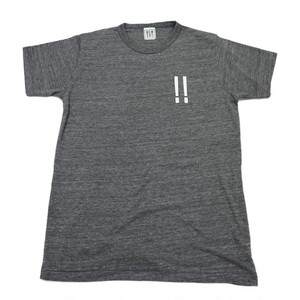 【wow OH!!】ワオ!!  オリジナル左胸ロゴTシャツ ヘザーチャコール   wow-2