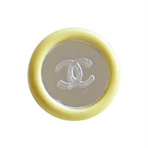 【LAST ONE SALE】ミラー イエローフレーム ココマークボタン 1.7cm