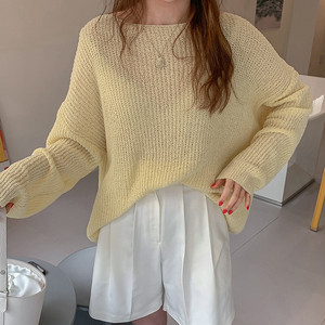 メッシュ薄手セーター