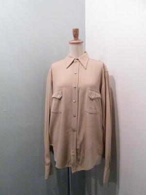 【ユニセックス】ヴィンテージ レーヨンギャバジンシャツ 50〜60年代