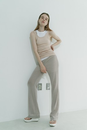 Knit pants / Beige
