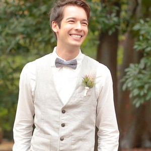 Bow tie Silver dots