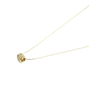 Granulation pipe Necklace Dia - K18YG