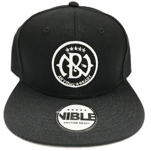 Nible Flat Visor Cap Emblem Logo / Black
