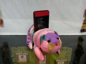 ベトナム雑貨PhiPhi・ハンドメイド・スマホ・モバイル・iPhoneスタンド(アニマル/ねこ)