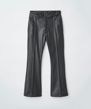 (JUHA) SYNTHETIC LEATHER FLARE PANTS