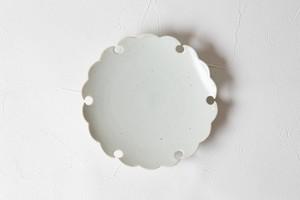 [幾田 晴子]白瓷 雪輪銘々皿