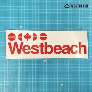 WESTBEACH CLASSIC STICKER -ロゴダイカット大(RED) -1枚