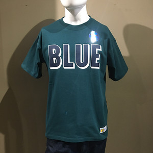 RUSSELL・BLUEBLUE 3D ロゴ プリント Tシャツ GREEN