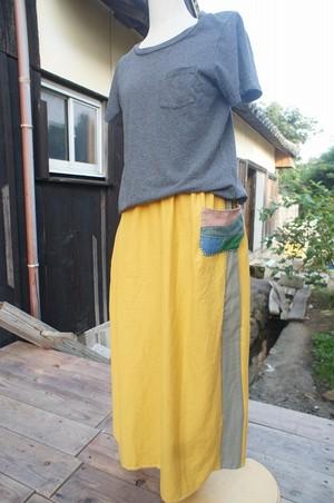 道草スカート・たんぽぽ色