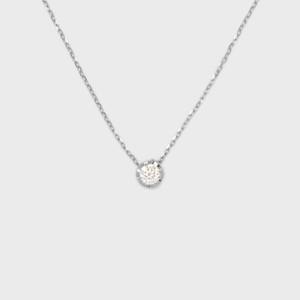 ENUOVE NOTTE Diamond Necklace K18WG(イノーヴェ ノッテ 0.1ct ダイヤモンドネックレス  K18ホワイトゴールド スライドアジャスターチェーン)