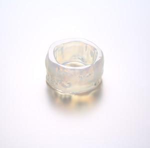 Color rippy ring :circle opalin