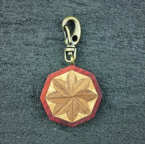 wooden inlaid charm IH-044-PD