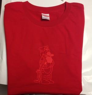二人の秘密Tシャツ(ボディ:レッド/プリント:レッド)