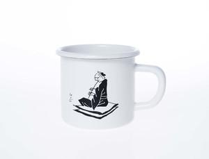 上出惠悟さんの笛吹きホーローマグカップ