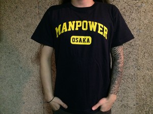 MANPOWER Official T-shirts College logo / NAVY