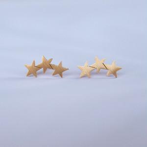 夜空の星・ゴールド3スター