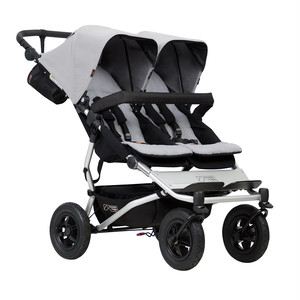mountain buggy duet buggy Silver マウンテンバギー デュエット グレー