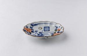 稲葉カヨ 花鳥紋楕円菊皿