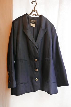 CHANEL Navy Linen Jacket