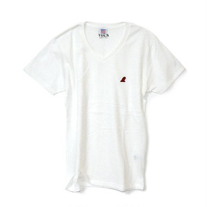 RedFin V Neck Tee White