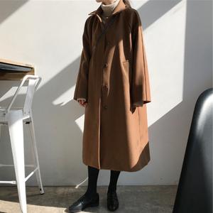 【送料無料】アウター コート ジャケット シングルボタン ロング丈 防寒 シンプル ベーシック 秋冬
