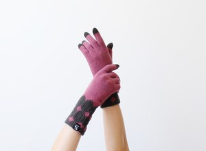 % PERCENT 手袋(FIT:パープル・ダークブラウン)指暖・セルフヒーター・ホールガーメント・裏起毛・スマホ対応・ギフト箱付き(男女兼用フリーサイズ)
