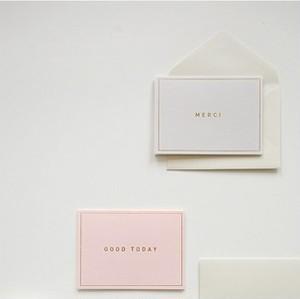 メッセージカード / 06 Gray - merci