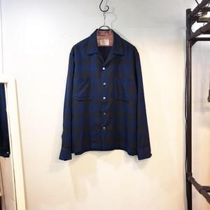 60's vintage shadow plaid shirt