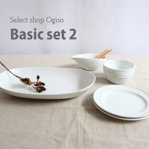 *送料無料*【SET-0024】まっ白な食器 ベーシックセット2 2人用セット