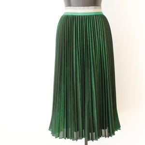 SILVIAN HEACH メタリックグリーンプリーツスカート:PGA20230 ¥25,000+tax