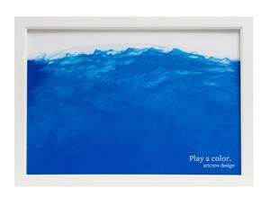 Play a color. ~Blue Wave~  A4サイズ 白い額入り