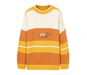 Material Girl×クッキーモンスターセサミストリートニットプルオーバー。オレンジカラー