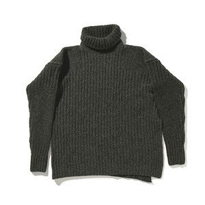 【FILL THE BILL】《UNISEX》MILITARY COMMAND KNIT - CHARCOAL