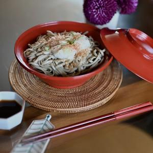 【31014】輪島塗 蓋付き 明治 / Wajima Nuri Wan Bowl with A Lid / Meiji Era