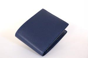 折財布BOXコインケース(手縫い・ドイツ型押し革)