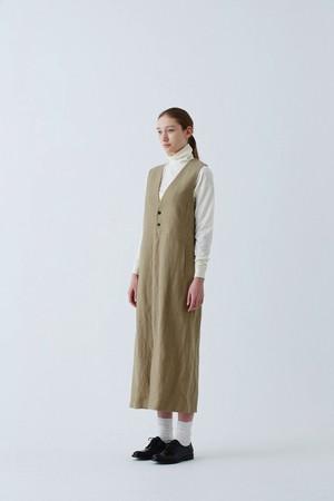 Wool Linen Long Vest Skirt<sold out>