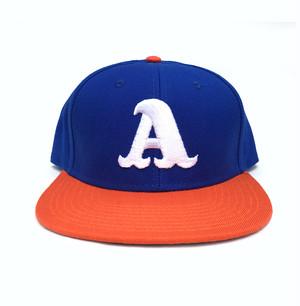 "ADOOM ""A""logo SnapBack cap ブルー x オレンジ"