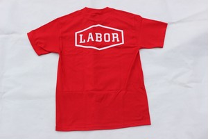 LABOR CREST LOGO S/S TEE RED