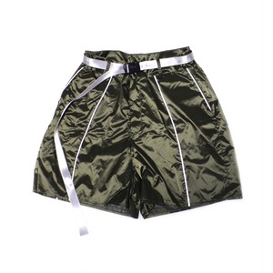 【apexesone】 Futurewitch Nylon  Fabric Low Waist Shorts olive