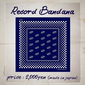 【先行予約】Record Bandana(レコード盤ダナ)