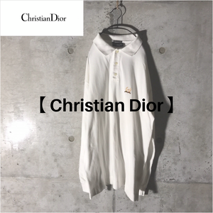 [Christian Dior] long white polo
