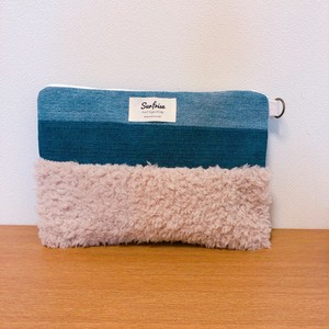 【お届けまで1-2週間】Denim clutch bag MC - Beige