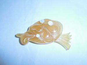 翁べっ甲帯留 tortoiseshell obi sash clip
