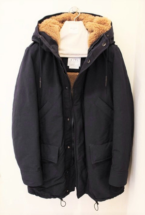 MIDA ITALY Hooded Coat Navy