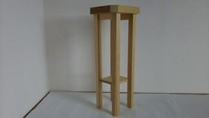 青森ヒバ 木製 シンプル 小さめ スツール (飾り台や花台としても)