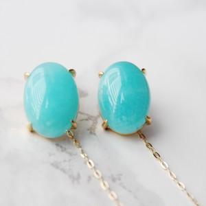 Twist earrings アマゾナイト